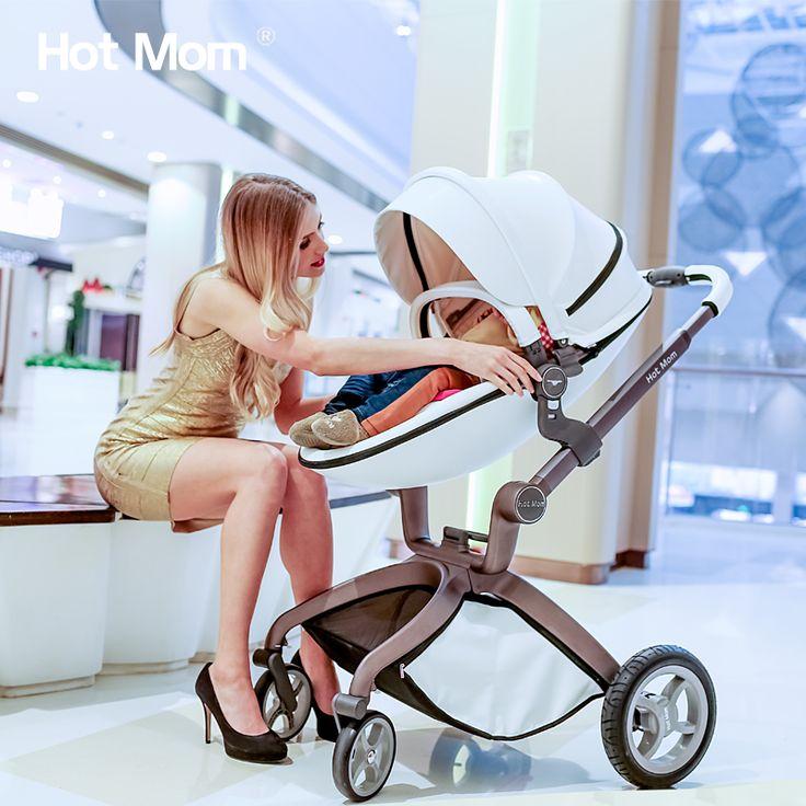 Горячая мама ребенка коляска высокой пейзаж может сидеть лежащая четырехколесные складной легкий корзину шок коляска коляски