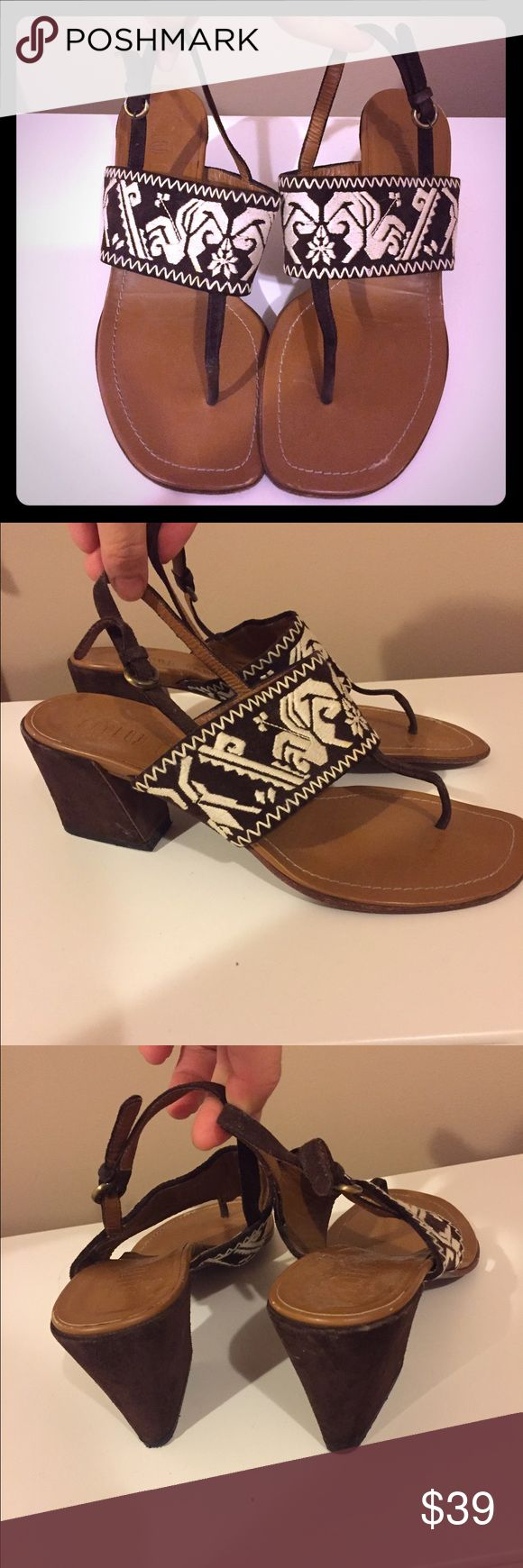 Auth miu miu Navajo camel sandals shoes 36.5 Love these. Great color to help extend those legs! Love the print to, goes nicely with shorts, jeans, dresses. Very versatile. I'm usually a 5.5 or 6 but bc the strap is adjustable, I wear them just fine as well. So if you are a 6 or 6.5, these will fit. No trades. Authentic miu miu. Really good price for these designer shoes!! No offers on pm. this is the lowest Miu Miu Shoes Sandals
