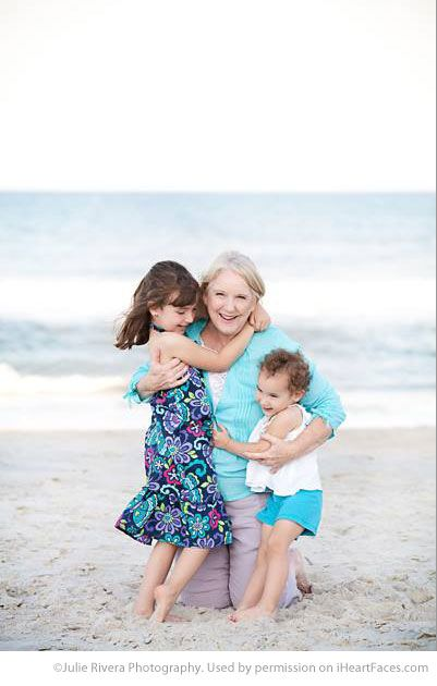 Inspiring Grandparent Photo Ideas - Portrait by Julie Rivera Photography via iHeartFaces.com