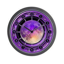 Moon wall art is enchanting, trendy and absolutely  beautiful. Spruce up your home with  these beautiful pieces of moon home décor.  Moon home wall art décor is timeless and symbolizes balance, enlightenment  and eternity. Moon wall art is truly  timeless      Clock Of The Purple Moon - Unique Decorative