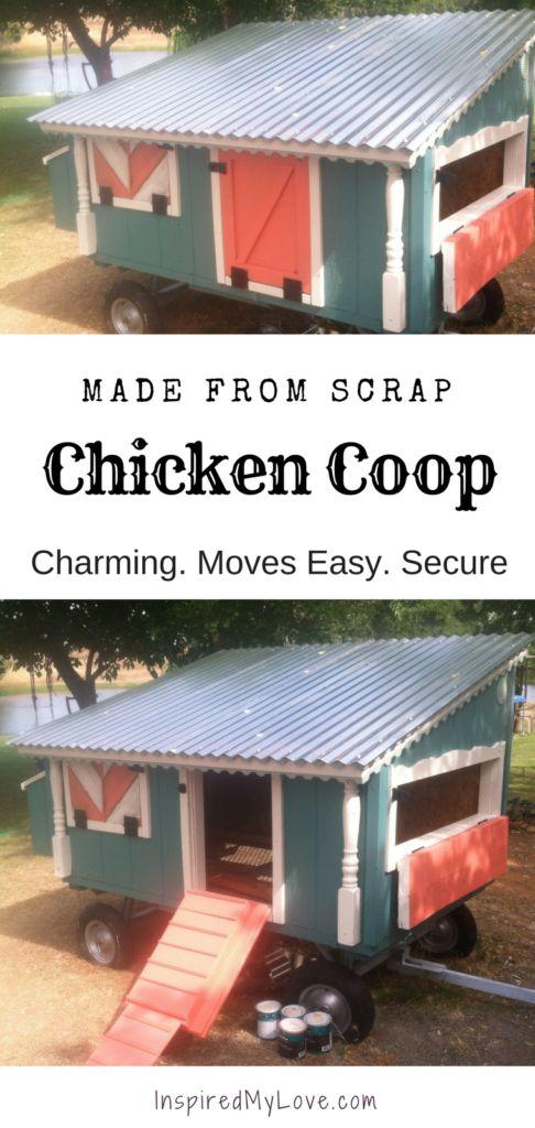 mobile chicken coop towable