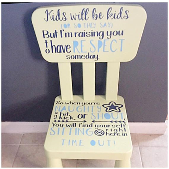 Child Time Out Chair Decal Toddler Timeout Chair Vinyl
