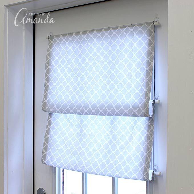 Como fazer um nenhuma sombra Roman sew para sua janela ou porta.  Este está em estúdio ofício de Amanda Formaro (Crafts por Amanda).