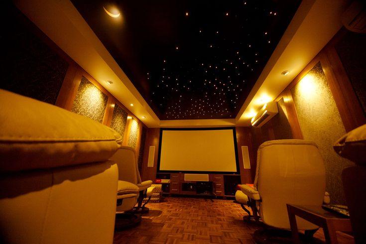 """Натяжной потолок """"Звездное небо"""". Оптоволокно. #потолки #stars #design"""