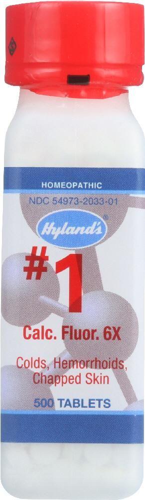 HYLANDS: No.1 Calcium Fluoride 6x, 500 Tablets