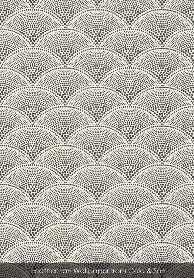 Feather Fan wallpaper from Cole Son From Patternsnap iPhone app - free app for interior wallpaper and fabric