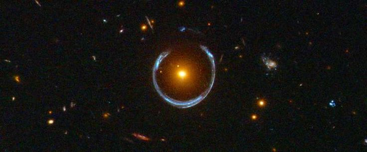 Astronomers use observations of a gravitationally lensed galaxy to measure the properties of the early universe