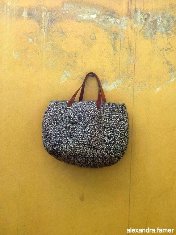 Handmade tote bag Casual Giant Purse Great look por AlexandraFamer