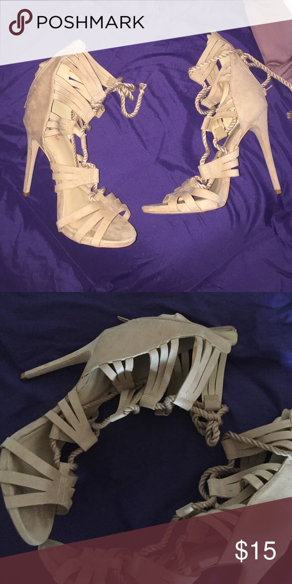 Tan heels New with out tags tan heel shoes Shoes Heels