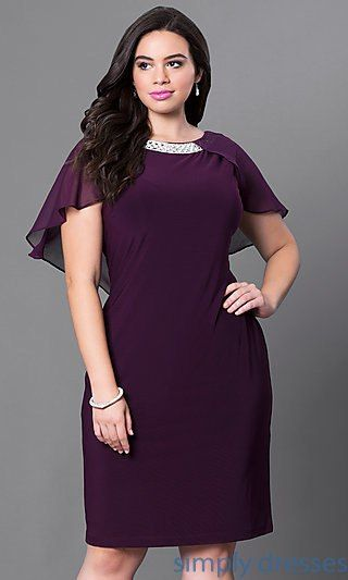 3c66190d1a6 Semi-Formal Cape Dress with Jeweled Collar