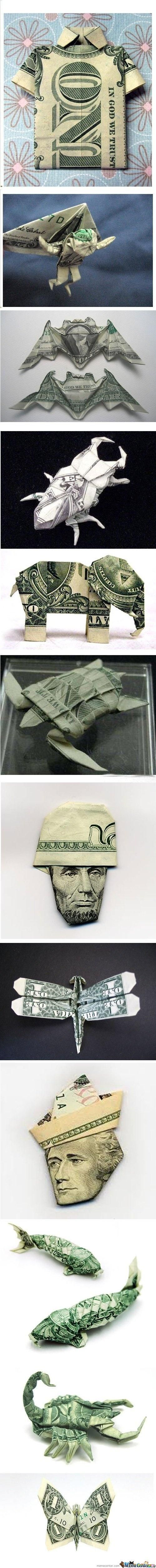 How to fold money. Creative ways to give money gifts