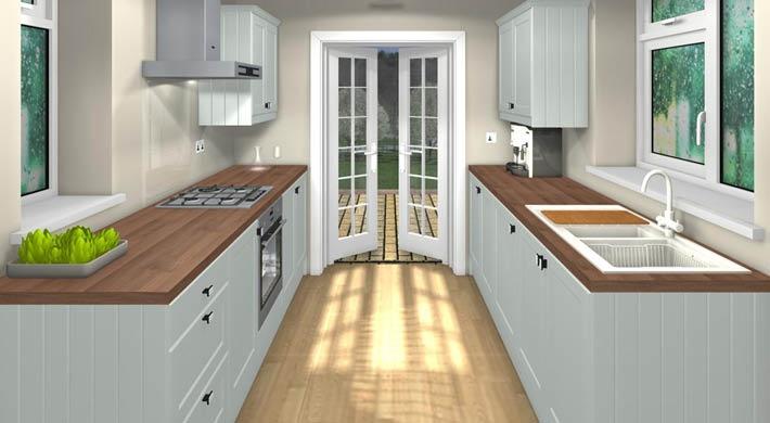 french doors Galley kitchen | kitchen | Pinterest | Galley ...