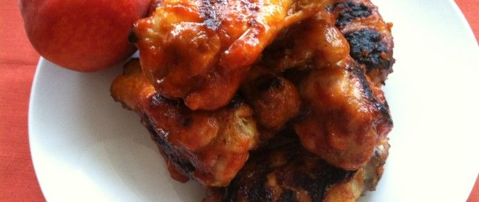 Peach Sriracha Hot Wings | Entertaining | Pinterest