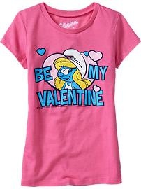 Cute pink Smurfette tee!  Available at the Old Navy Canada kid & baby sale (Feb 7-20)!  #ONKidtacular