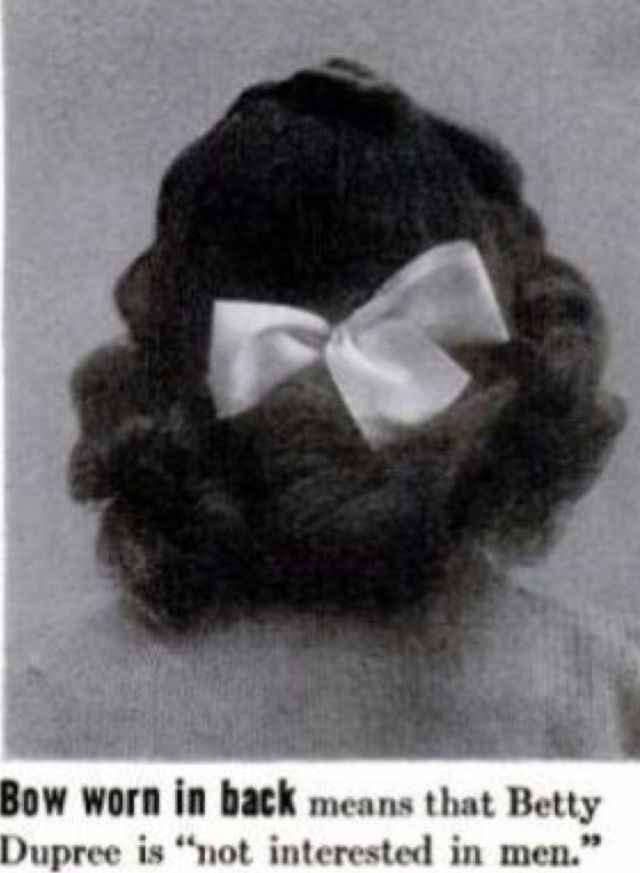 What Does Your Bow Say About Your Beau? 1940s Hairstyles Revealed About A Girl's Love Life