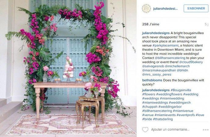 decor splendide mariage bougainvilliers et pastel