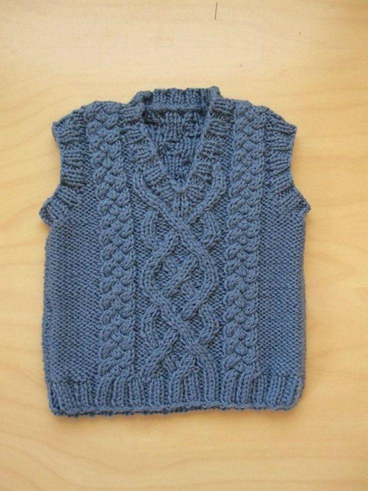Knitting | Knit vest pattern, Baby cardigan knitting ...