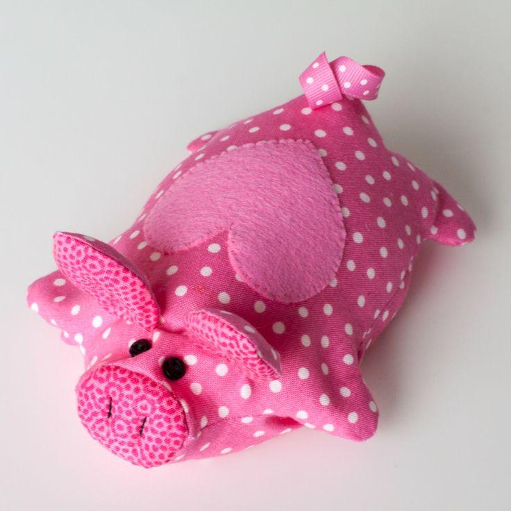 Piggy Free Pattern Diy With Fabric Stuffed Animals