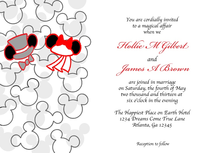 Wedding Invitation Mickey And Minnie Mouse – guitarreviews.co