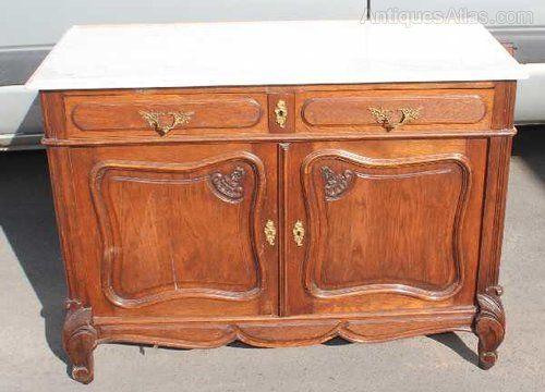 Antiques Atlas - Elegant Carved Oak Server Sideboard