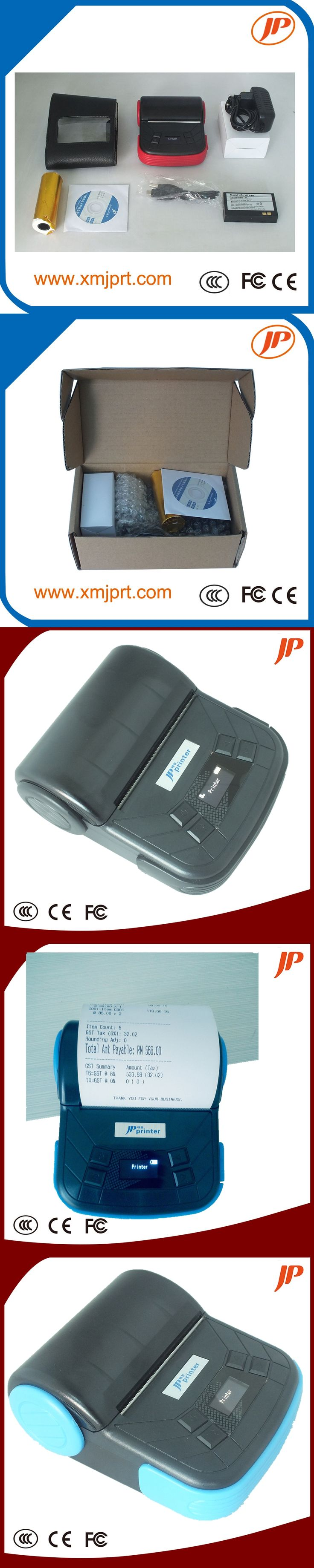 Free shipping New USB+Bluetooth Support Android printer 80mm mobile printer /Bluetooth printer