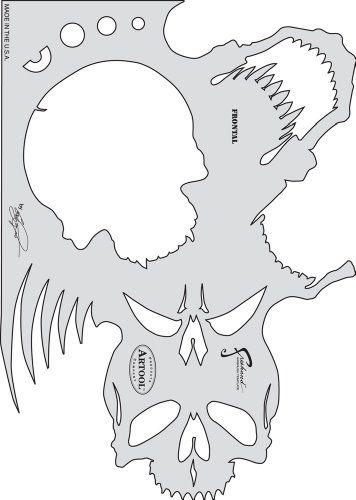Artool Freehand Airbrush Templates, Skull Master Frontal