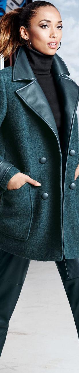 Madeleine Dark Green Coat