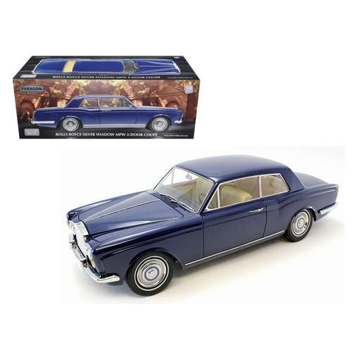 "1968 Rolls Royce Silver Shadow Oxford Blue from Movie ""Thomas Crown Affairs"" Ltd to 3500pc 1/18 Diecast Model by Paragon Models"