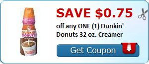 New Coupon!  Save $0.75 off any ONE (1) Dunkin' Donuts 32 oz. Creamer - http://www.stacyssavings.com/new-coupon-save-0-75-off-any-one-1-dunkin-donuts-32-oz-creamer/