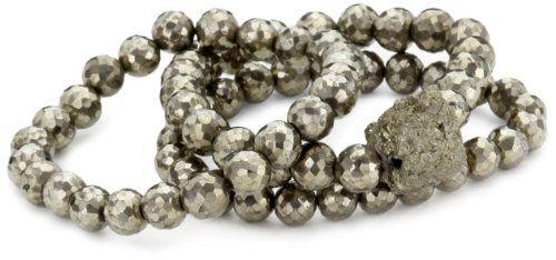 Jordan Alexander Gold Pyrite Bracelet Set