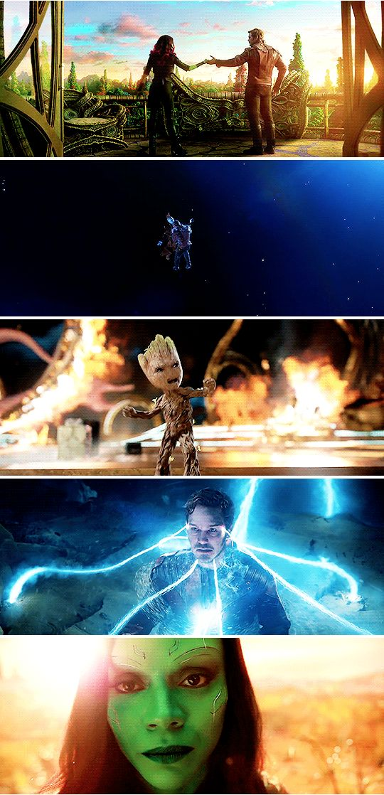 films in 2017 → guardians of the galaxy vol. 2 So here we are: a thief, one thug, an assassin, a maniac and an angry little tree.