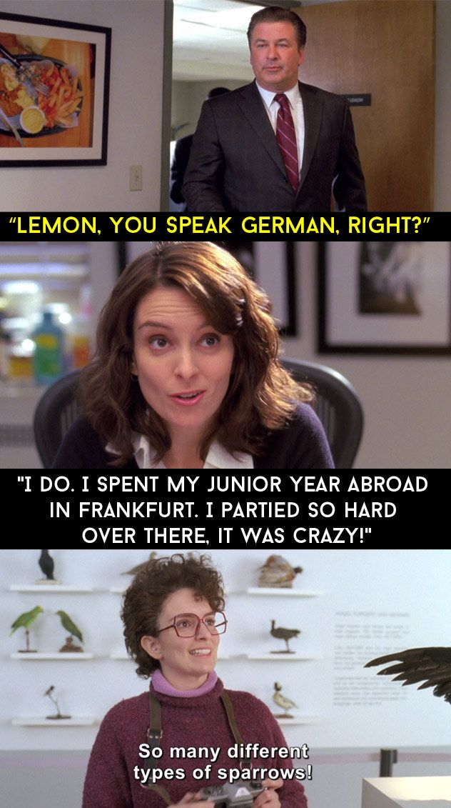 """There ain't no party like a Liz Lemon party, cos a Liz Lemon party is mandatory."""