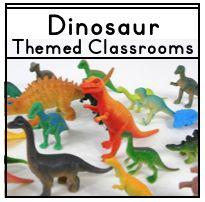 Ideas, tips, photos, and printable resources to help teachers create a dinosaur themed classroom.