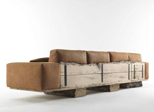 Les Meilleures Images Du Tableau Canapé Bois Design Sur Pinterest - Canapé design industriel