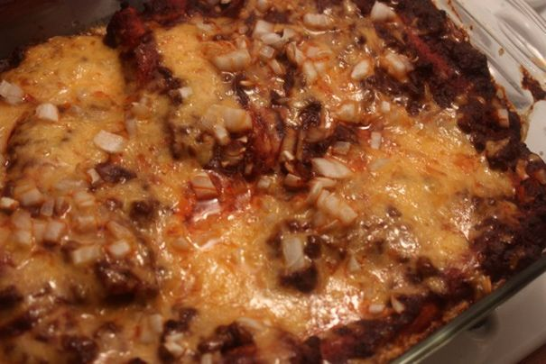 Cheese Enchiladas with Chile Con Carne My Elsa makes these and what ...