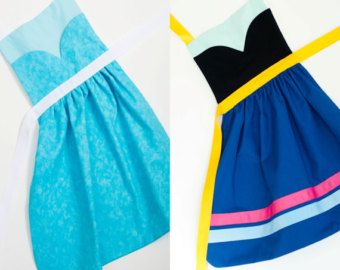 disney princess dress up pattern tutorials and aprons anna and elsa | disney s frozen princess anna a nd elsa dress up apron set for ...