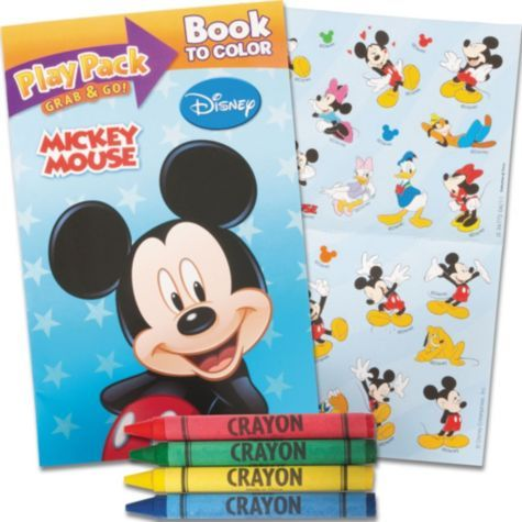 Mickey Mouse Grab N Go Coloring Book
