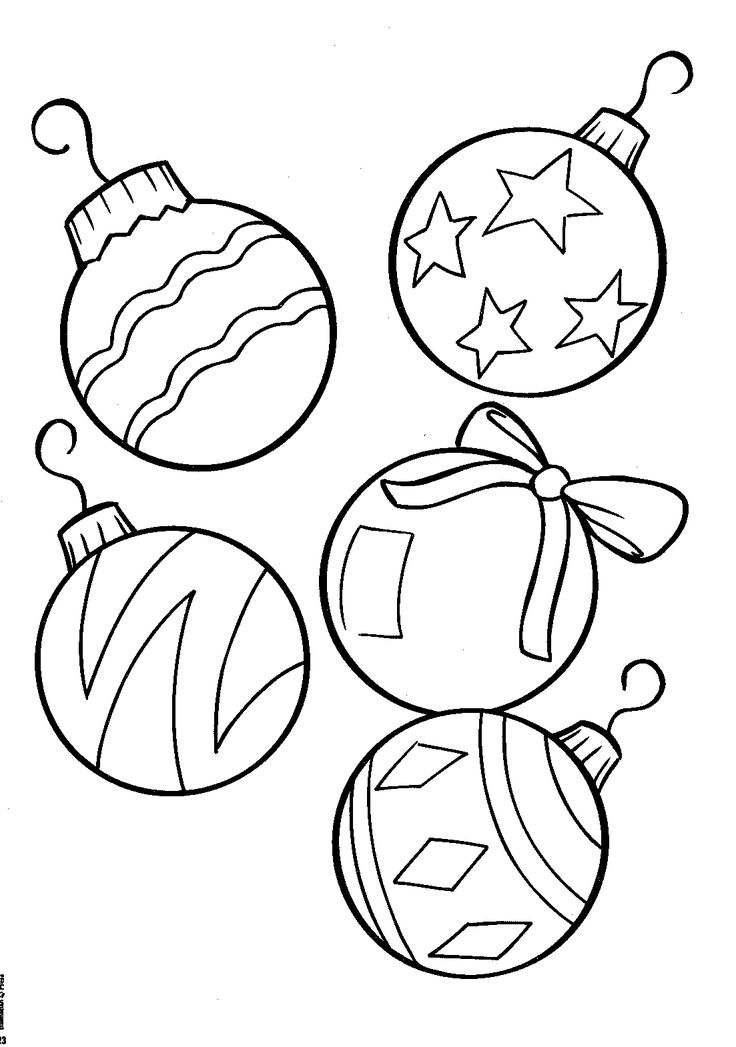 Ball Ornaments - christmas coloring pages - Free Large Images