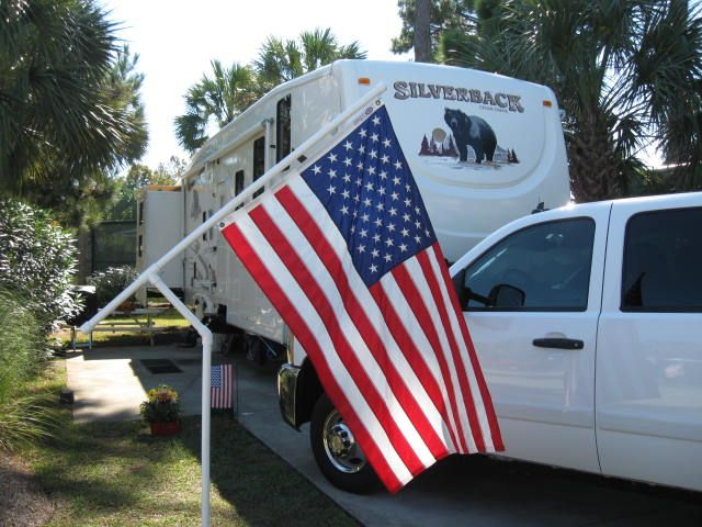 Rotating PVC-pipe Flag poles