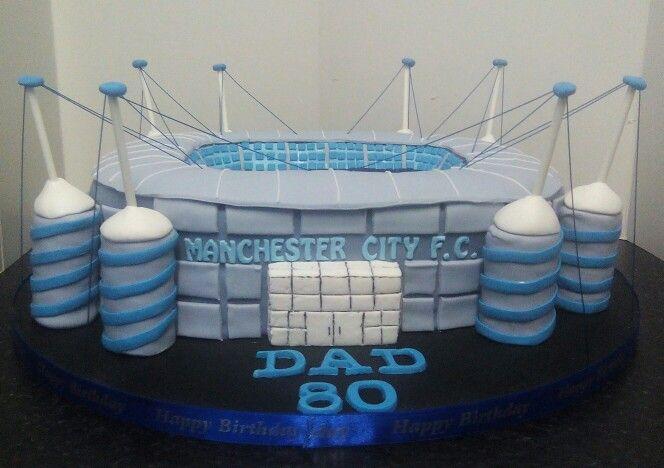Manchester city stadium cake