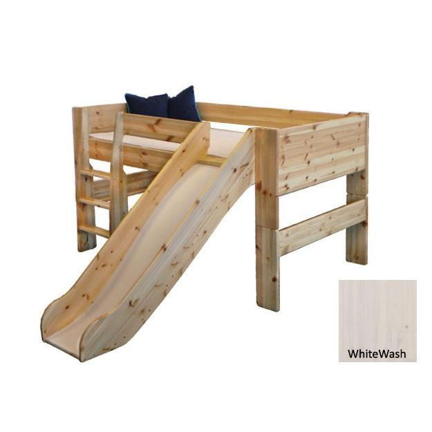 Delightful Twin Bed With Slide Part - 13: Popsicle Midsleeper Twin Loft Bed With Slide $ 819.00