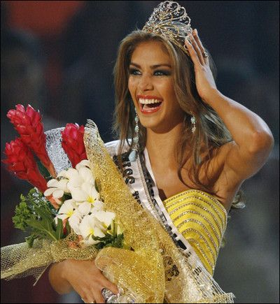 Miss Universe 2008- Venezuela won the Miss Universe pageant two years in a row!:
