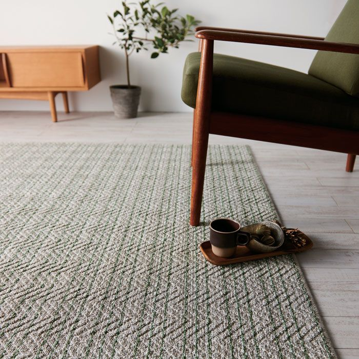 Dream interior | Rakuten Global Market: Suminoe linseed ragmat modern natural linen hemp rugs carpet slip-proof Dani floor heating for hot carpets for