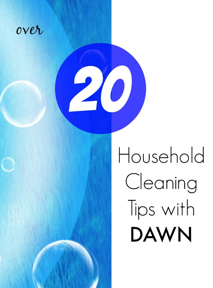 Throw out the harsh chemicals and clean your entire house with Dawn!