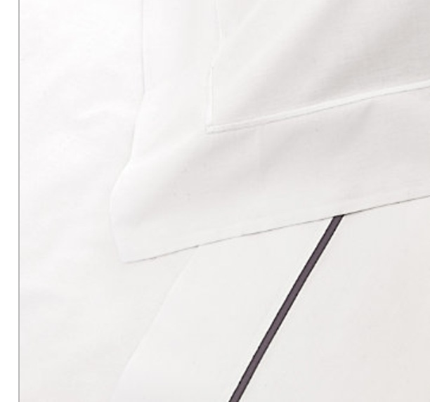 Single cord row bed linen (silver) by the white company