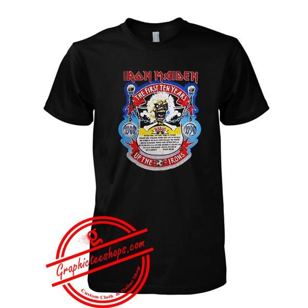 iron maiden the first ten years tshirt