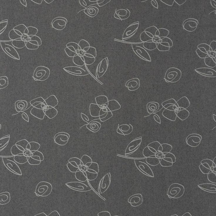 Gecoat tafellinnen Beatle Gris - Vrolijk afwasbaar tafellinnen met bloemetjes print op een grijze ondergrond. Dit geplastificeerd katoen is van zeer goede kwaliteit en heeft een tefloncoating. Mag op 30 graden worden uitgewassen! Kies de gewenste lengte in het menu en wij snijden uw gecoate tafelkleed netjes voor u op maat.