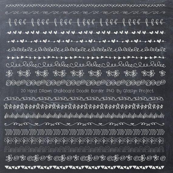 BUY2GET1FREE Tafel Doodle Grenze Tafel-Grenze von qidsignproject
