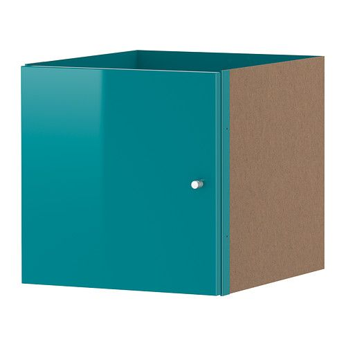 EXPEDIT Insert with door - high-gloss turquoise  - IKEA
