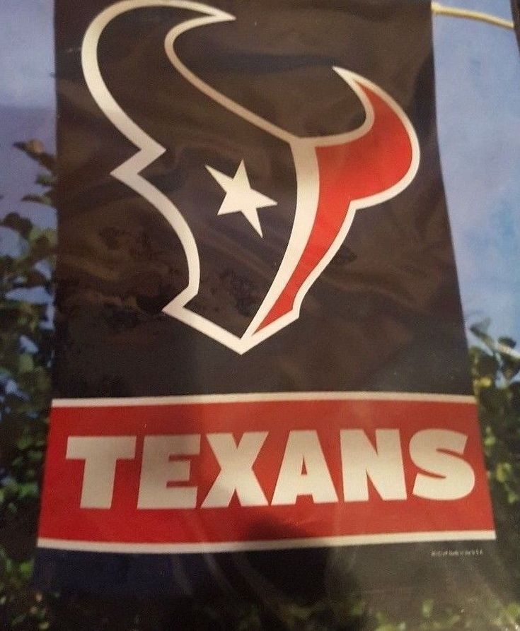 "Houston Texans Logo Vertical Flag and 5' Wooden Banner Pole Kit 28' x 40"" Blue #Wincraft #HoustonTexans"